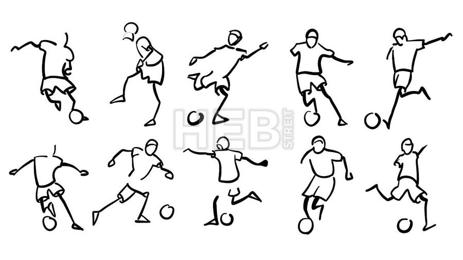 Frontal View Soccer Player Sketch Football Player Drawing Football Drawing Soccer Drawing