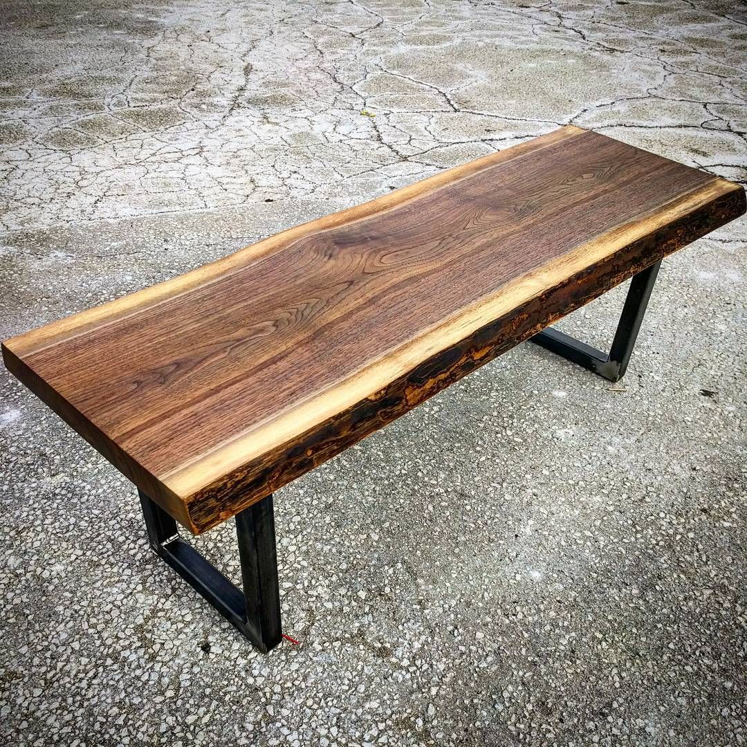 Live Edge Square Coffee Table: Live Edge Black Walnut Coffee Table By Barnboardstore.com