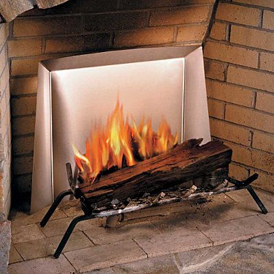 Fireplace Heat Reflectors. I have one of these in my fireplace ...