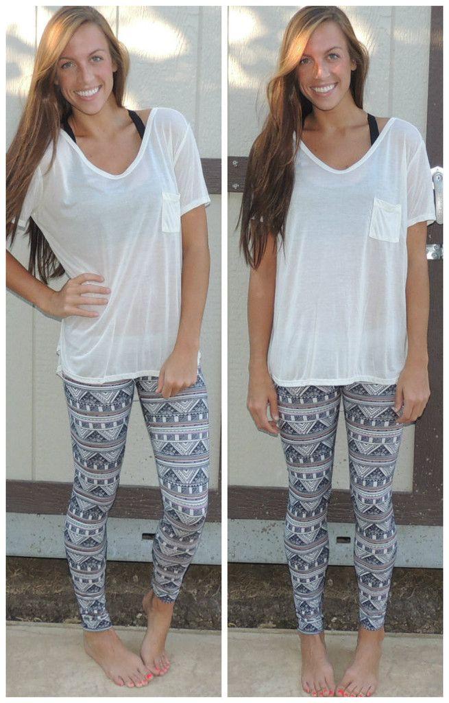 Pretty Printed Leggings Shopmce Outfits With Leggings Fashion