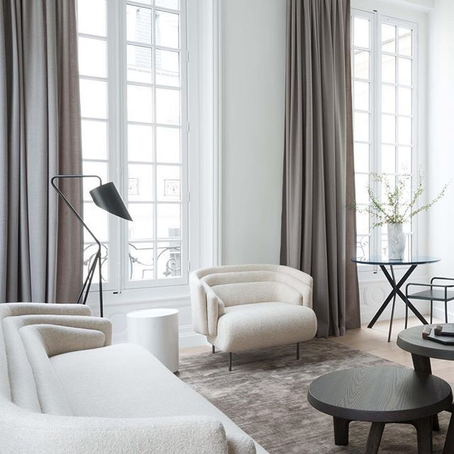 Chic taupe and white living room Modern classic Pinterest