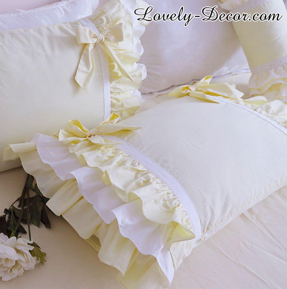 Princess Yellow Ruffle Duvet Cover Set
