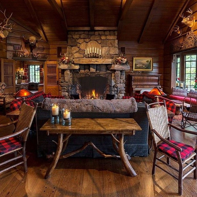 25 Amazing Western And Rustic Home Decoration Ideas Rustichome Homedecor Homedecorideas Rustic House Rustic Cabin Decor Log Cabin Decor