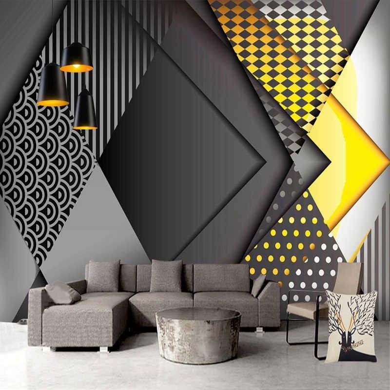 Custom Photo Wallpaper Modern Geometric Marble 3d Wall Murals Living Room Bedroom Backdrop Wall Papers For Walls 3 D Home Decor Wallpaper Living Room Wall Decor Design Living Room Tv
