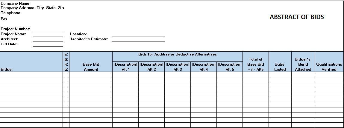 Free Construction Project Management Templates in Excel Employment