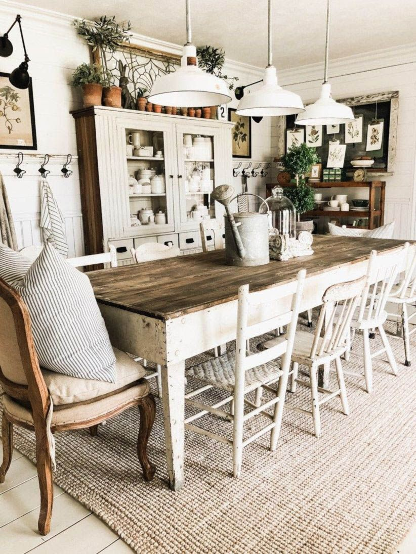 Artistic Ideas for Dining Room Walls  Farmhouse dining room table
