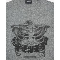 Photo of The Kooples wide gray cotton t-shirt with print – Damenthekooples.com