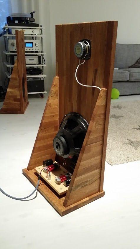 Fostex Fe 103en And Eminence Alpha 15a On An Open Baffle Speaker Projects Open Baffle Speakers Open Baffle