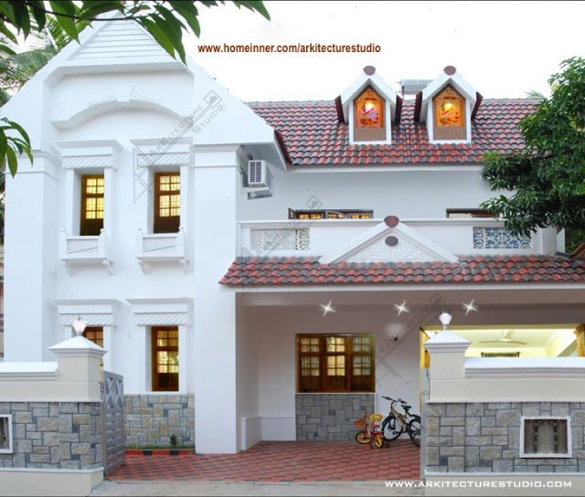 Completed House Design Outside View By Arkitecture Studio   Ahmedabad  Architecture Design Portfolio
