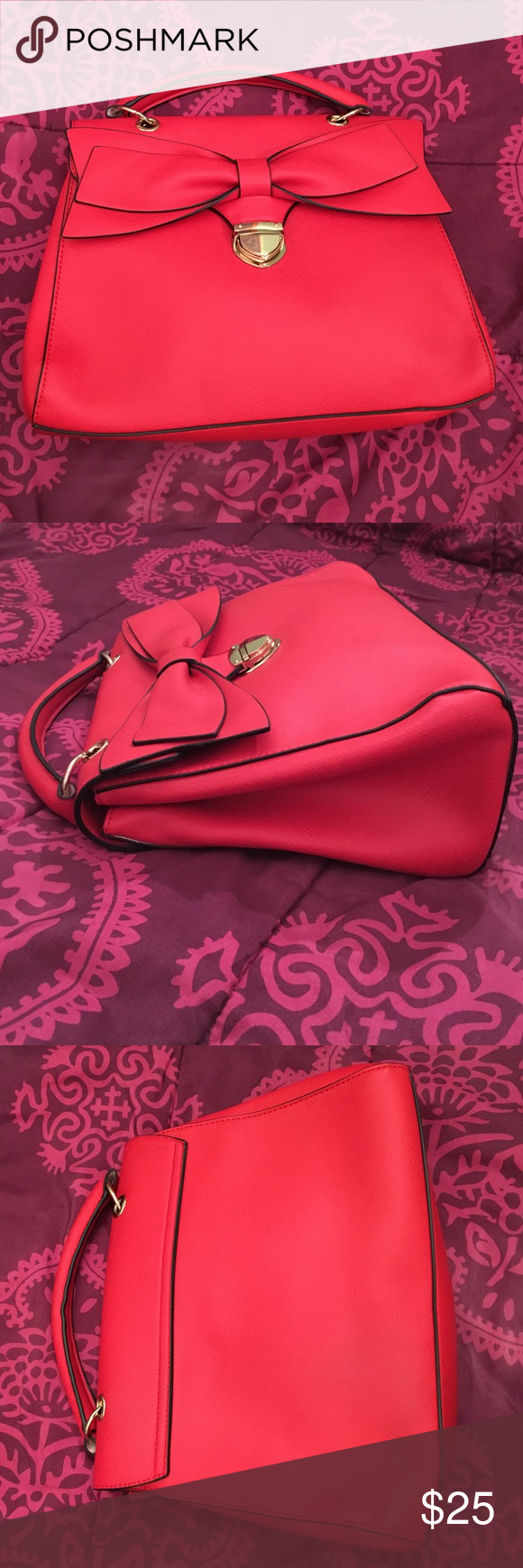 30e332cc3f ALDO Red Bow Purse ALDO Red Bow Purse. Super cute bag with big bow detail  to give your outfit a pop of color! Excellent and sturdy quality-  structures bag.