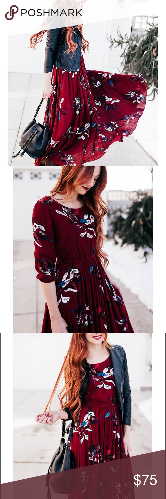 Floral wine red maxi dress red maxi dresses red maxi and red color
