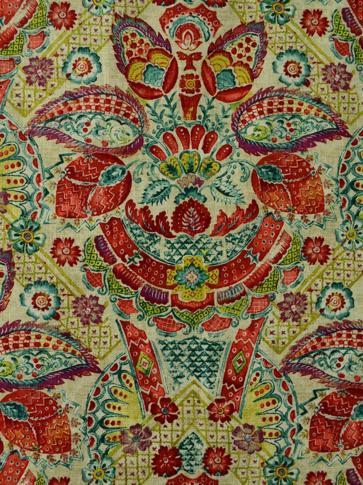 Suzani Print Decorator Fabric Home Decor