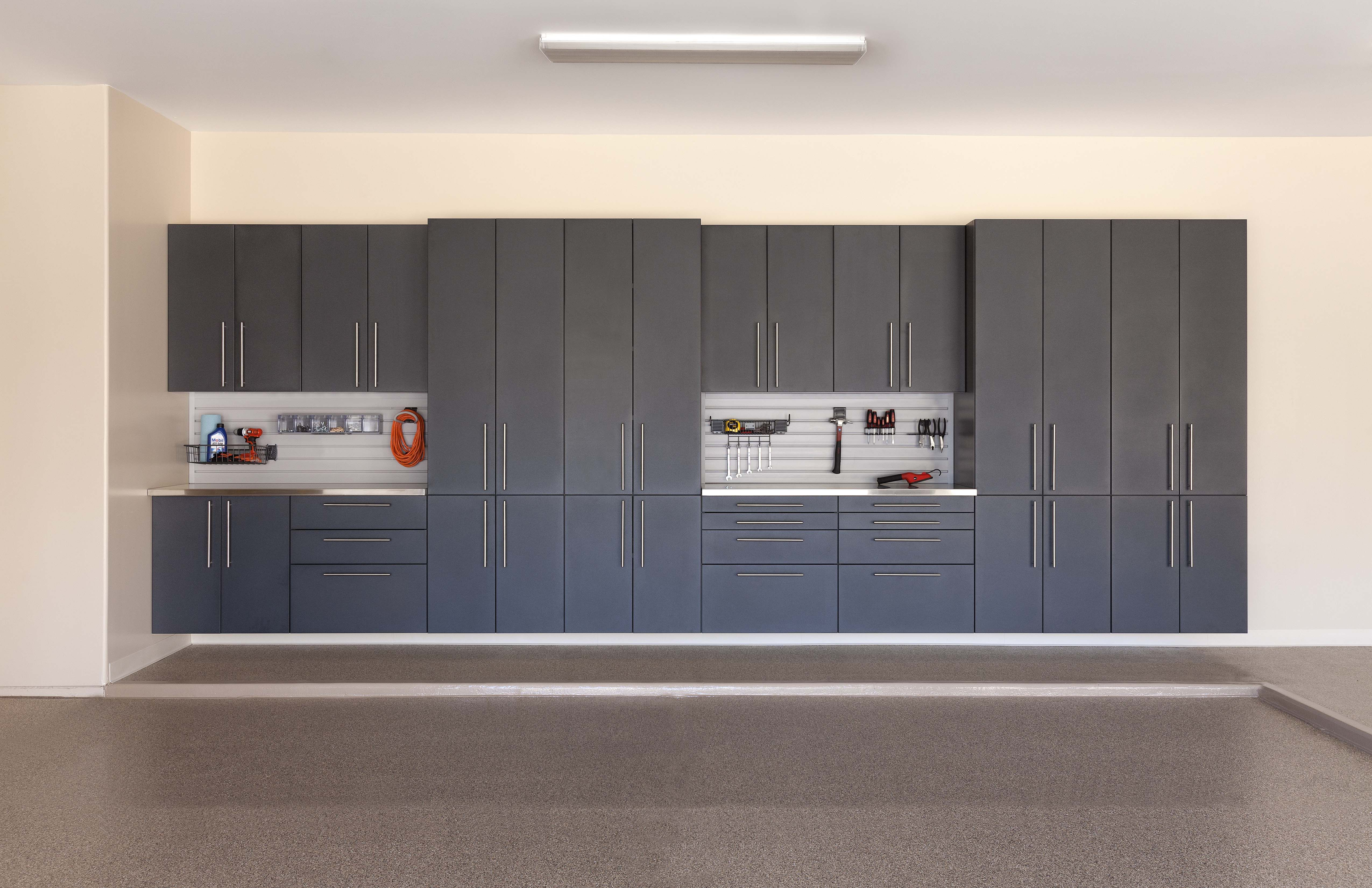 Granite Cabinets, Double Workbench Stations with Stainless Steel ...