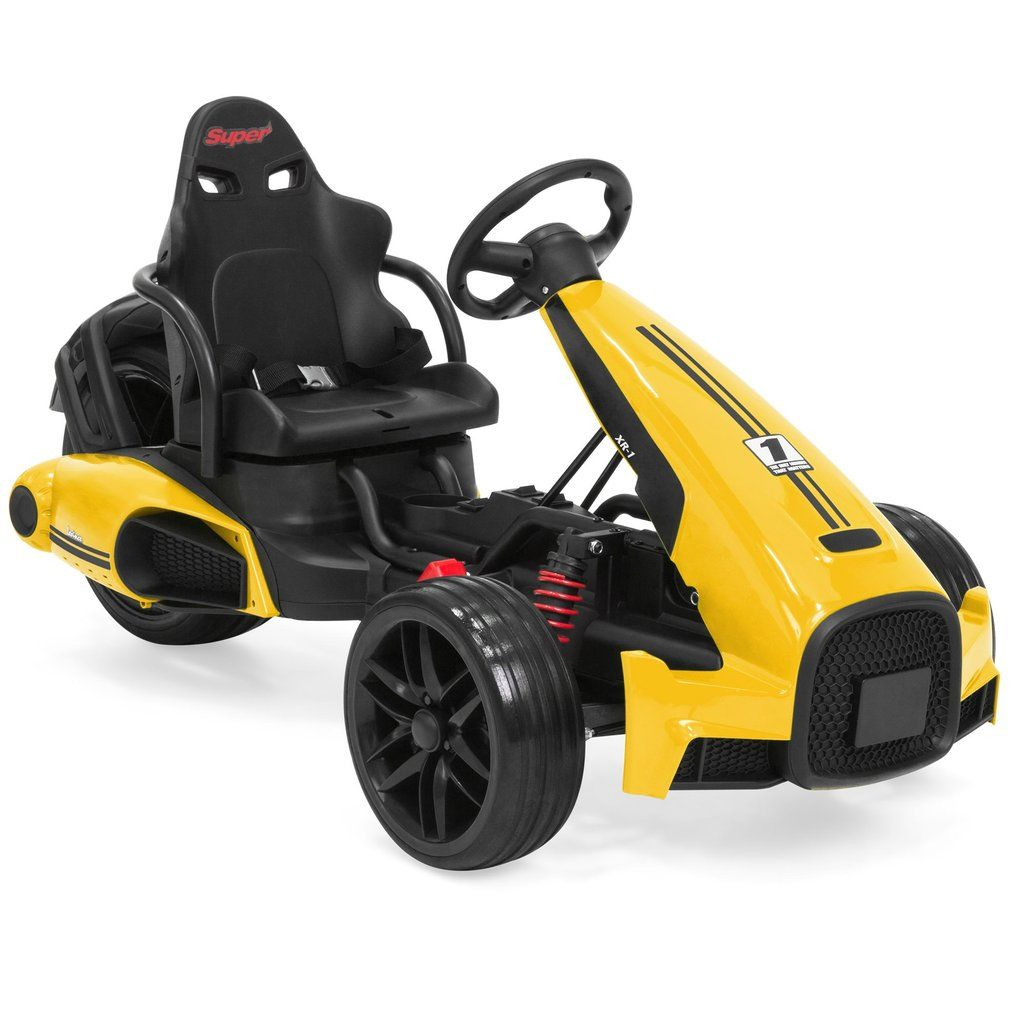 12v Kids Go Kart Racing Ride On Car W Push To Start 2 Speeds Horn Go Kart Go Kart Racer Go Kart Racing