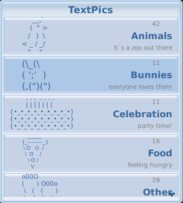 Cool Text Symbols Animals Textpics For Blackberry Text Art To