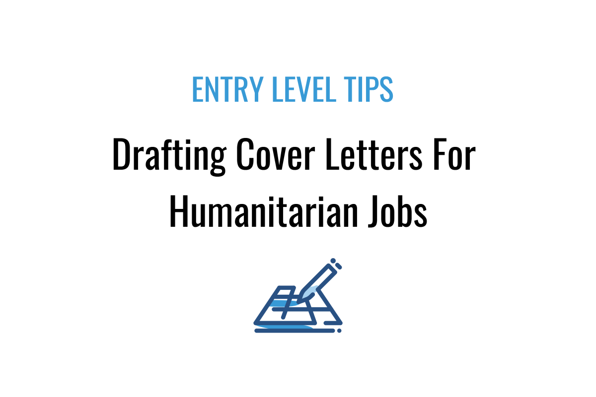 7 Basic Tips On Drafting A Cover Letter For A Humanitarian Job Lettering Cover Letter For Resume Cover Letter