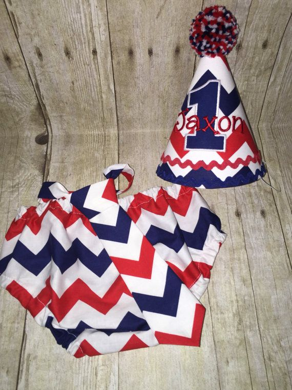 Boys Cake Smash Outfit Red White And Blue By Slickandboogers