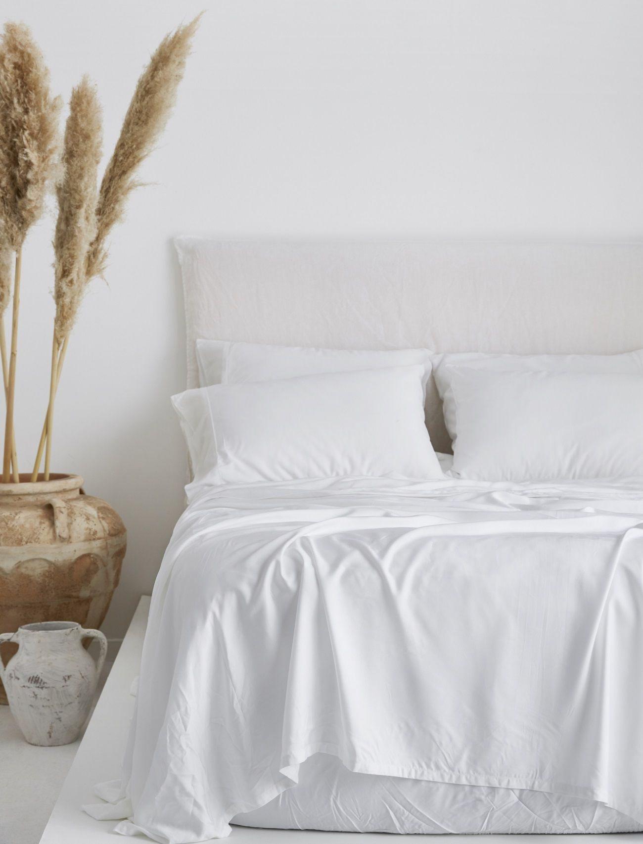 Luxurious Organic Bamboo Sheet Set In White With Images Bamboo