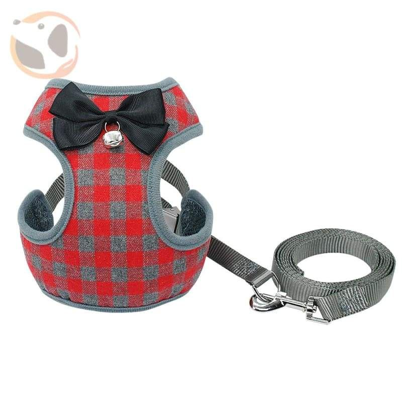 Plaid Dog Harness Leash Set for Small Dogs | Dogs Clothes and ...