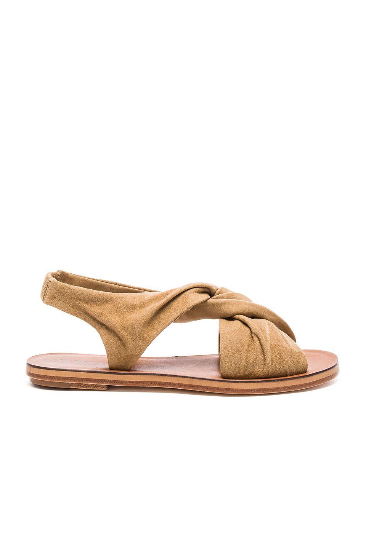 Derek Lam 10 Crosby Pell Sandal Em Safari Fine Suede Revolve Derek Lam 10 Crosby Footwear Design Women Sandals