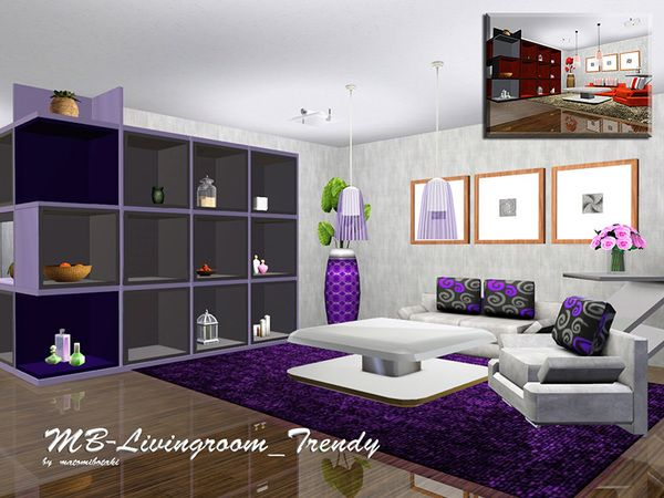 The Sims Resource - TSR MB Trendy Livingroom by ...