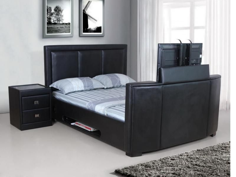 109018 this incredible Galactic TV 6FT Bed lets you hook up your