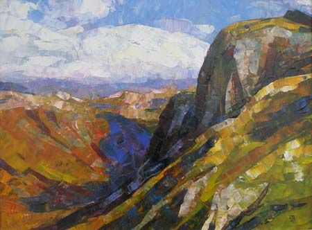 Eskdale Lake District Acrylic On Canvass 23 X 19cm Art Canvas Painting Lake Painting