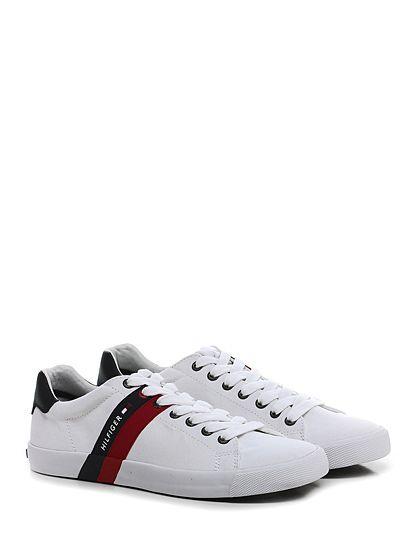 hot sale online e74dd ba11a Sneaker White\black Tommy Hilfiger | boot | Tommy hilfiger ...