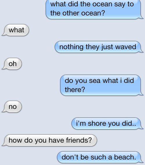 Clever Text Message Conversation