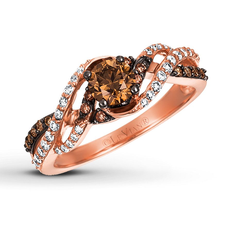 ef16d7795 Le Vian Chocolate Diamond Ring 3/4 ct tw 14K Strawberry Gold - 23956206 -  Kay