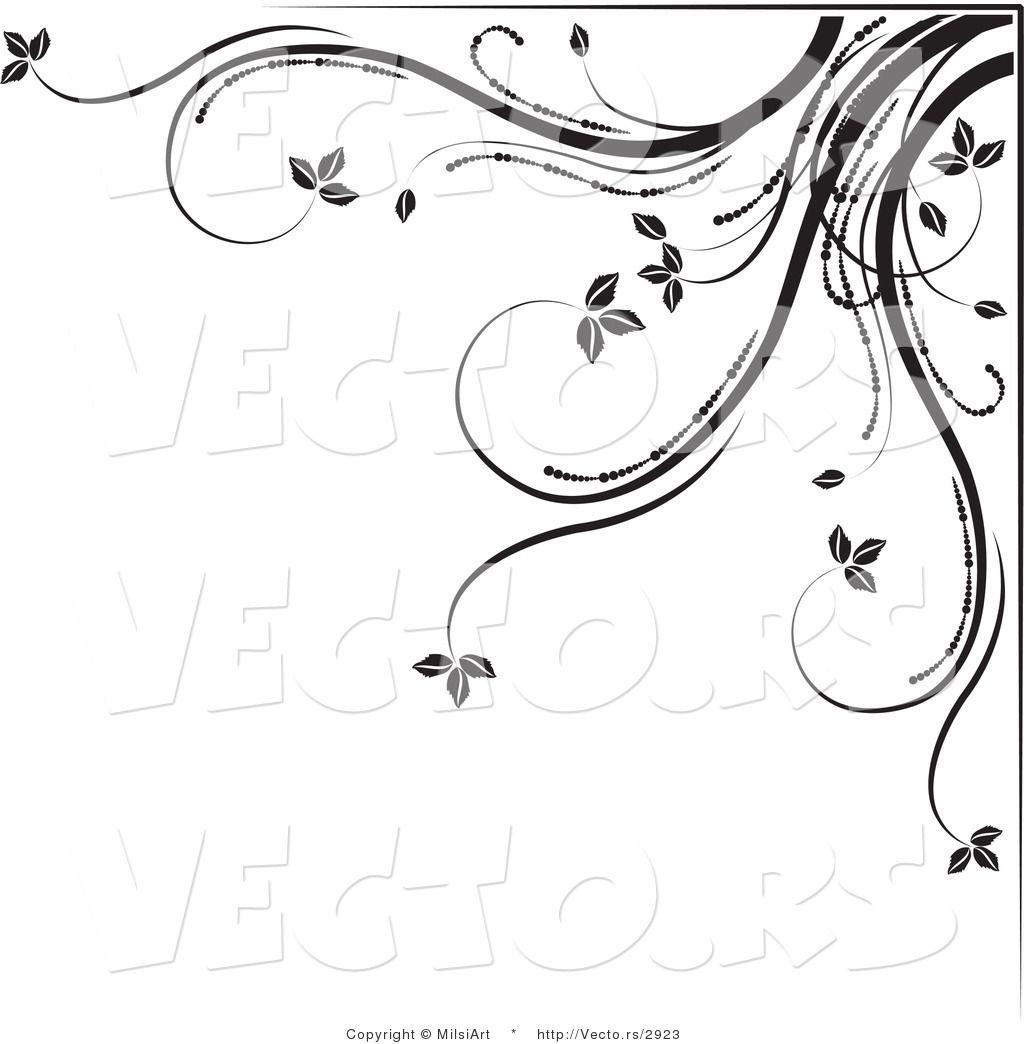 flower designs border black and white. black and white flower border designs