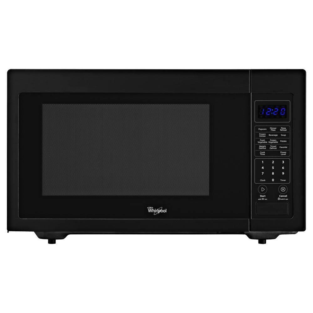 Whirlpool 1 6 Cu Ft Countertop Microwave In Black Built In