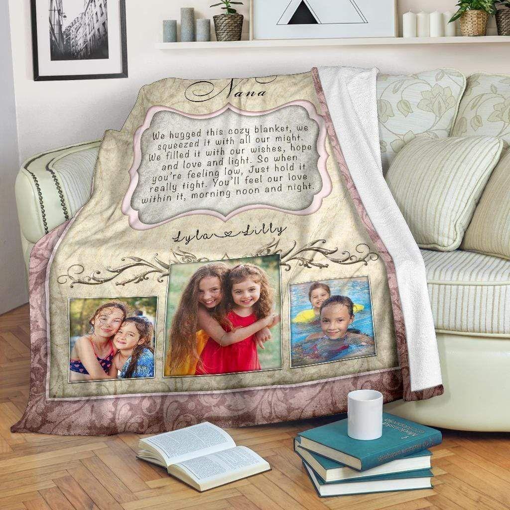 Hugs From Home - Madison Grace Custom Blanket - Large Fleece Blanket (80x60)
