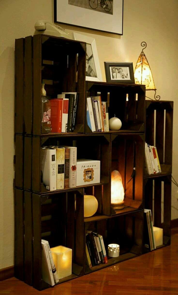 Reciclaje De Cajas De Madera Decoraci N Interiores Pinterest  # Muebles De Jabas De Madera