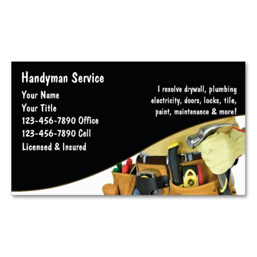 Handyman Business Cards | Plumbing Business Cards | Pinterest ...