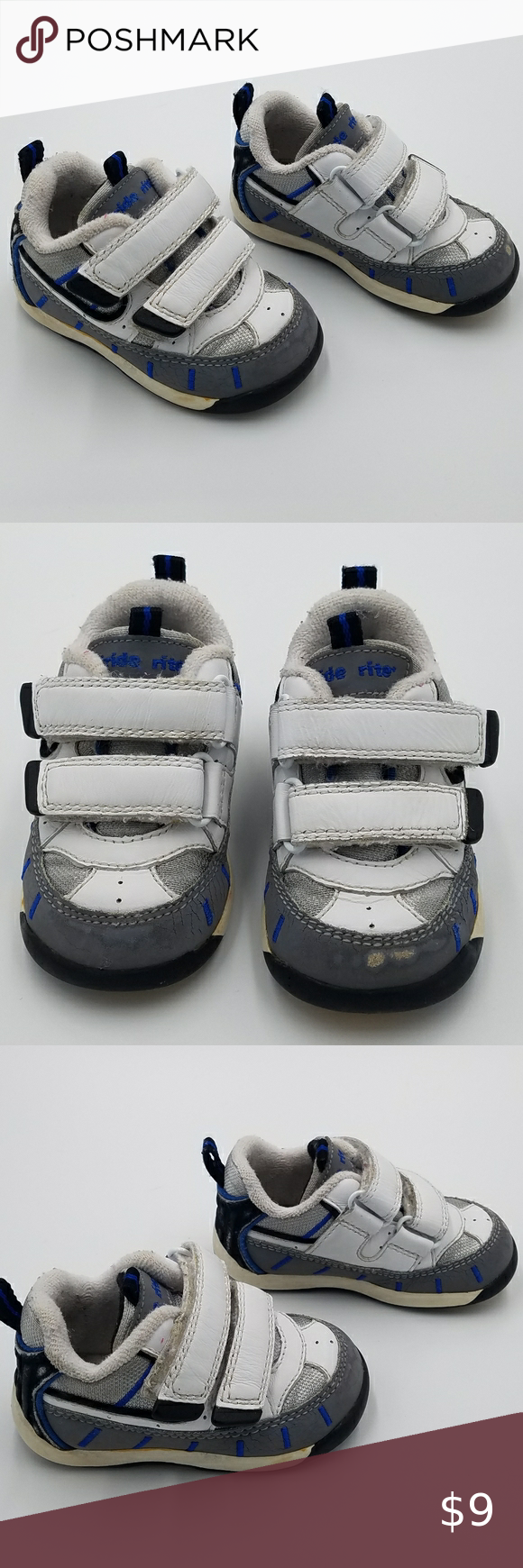 Stride Rite Velcro Sneakers Shoes 4T in