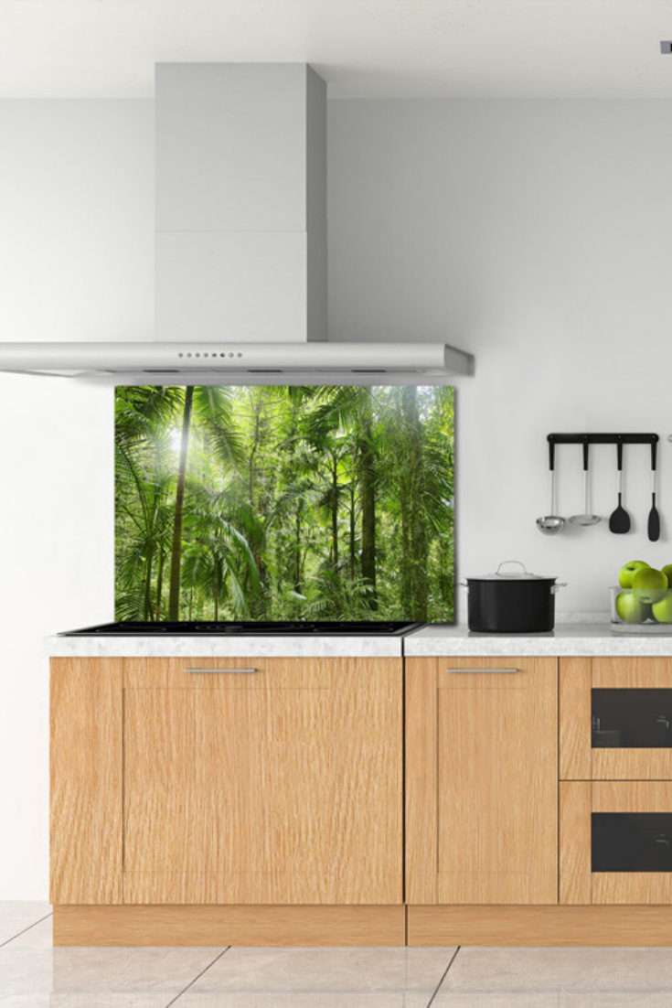 Las Tropikalny Szklany Panel Do Kuchni Decor Home Decor Home