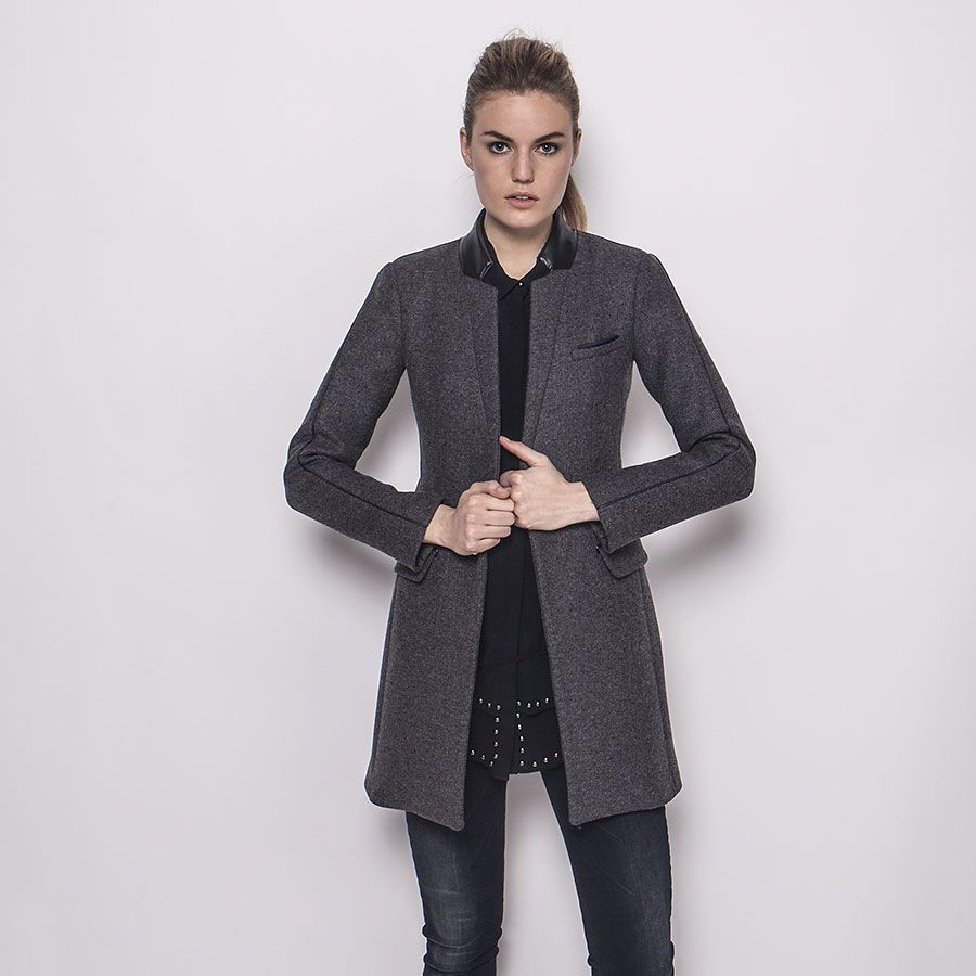 Manteau gris 123