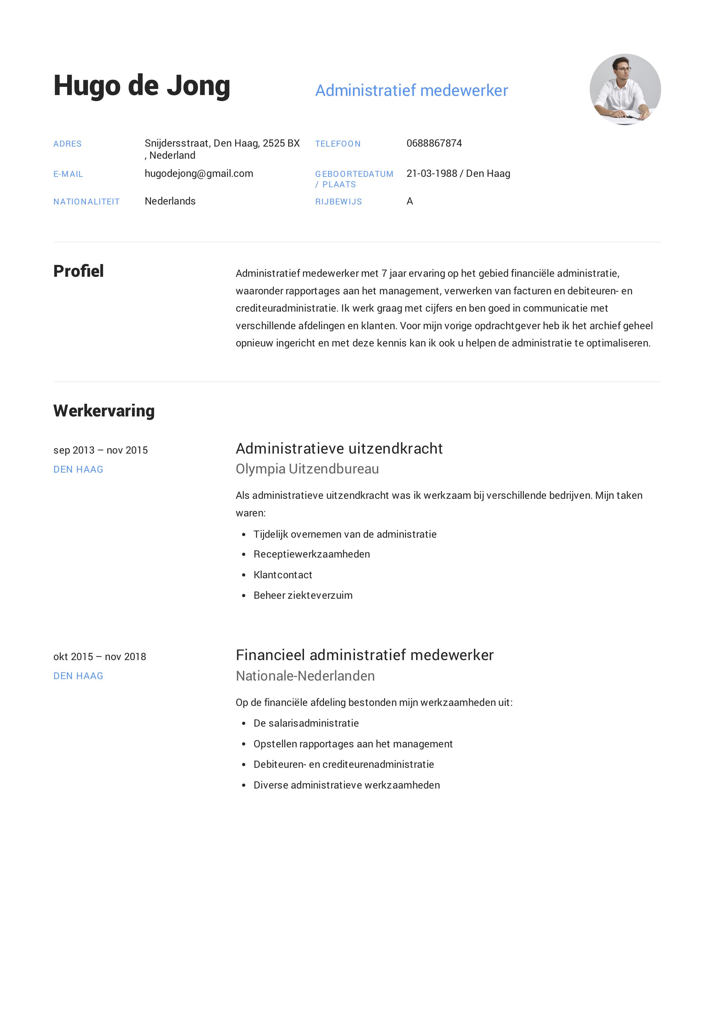 CV Administratief Medewerker in 2020 Notuleren, Handleiding