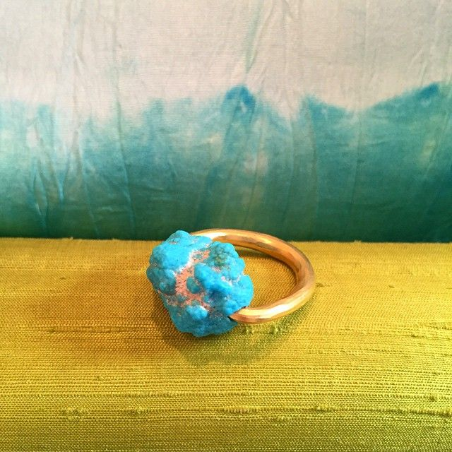 The Pippa Small Simple Set Turquoise Ring