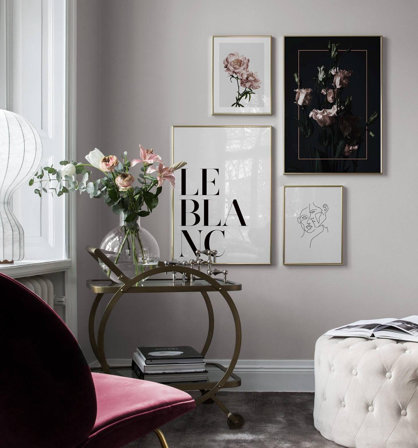 Inspiration Fur Schone Wohnzimmer Bilderwand Mit Postern Desenio Mit Bildern Gestaltung Kleiner Raume Schone Wohnzimmer Elegantes Wohnzimmer