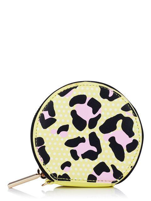 Skinnydip Yellow Leopard Coin Purse