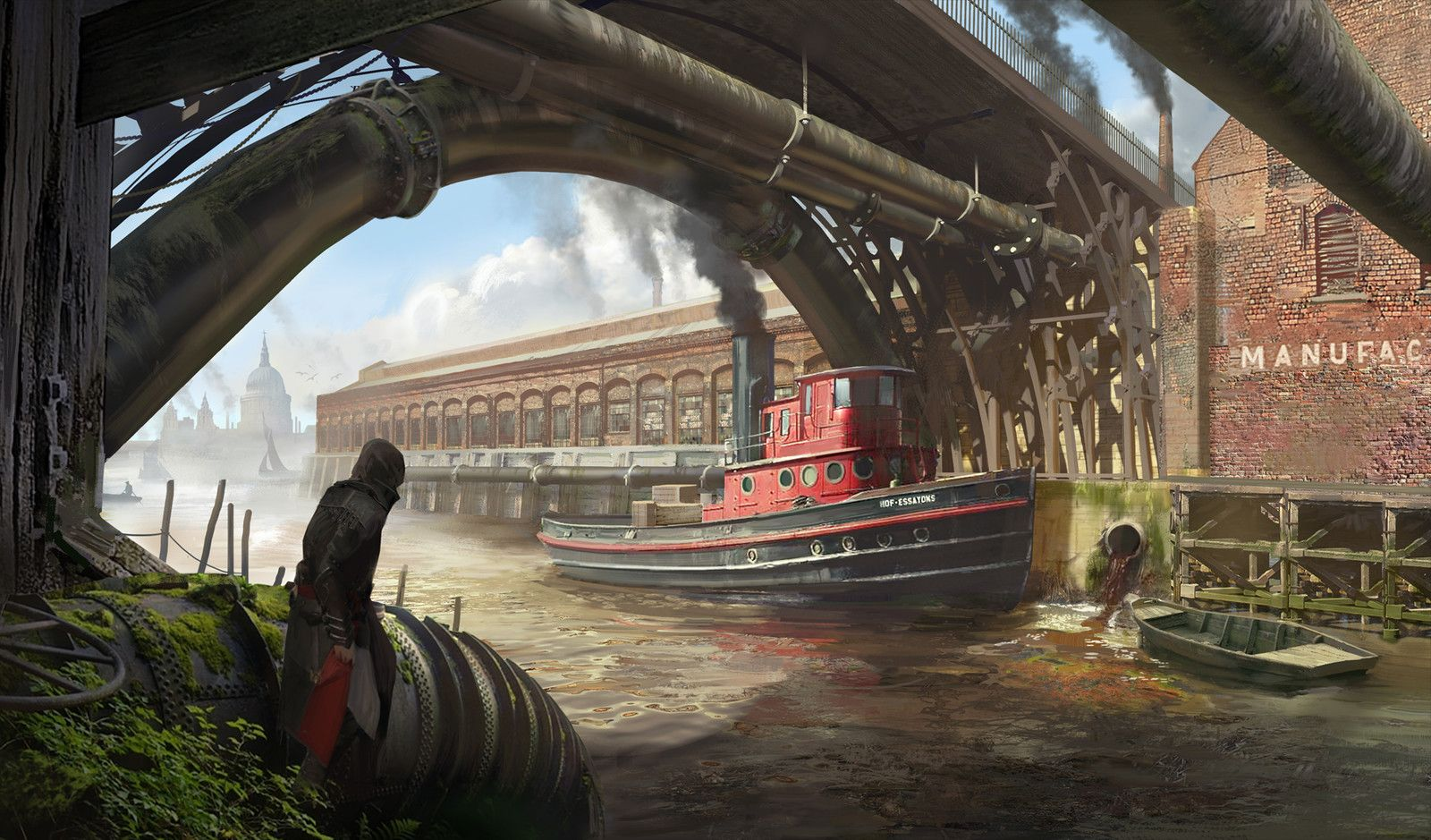 Iron Bridge, Hugo Puzzuoli on ArtStation at https://www.artstation.com/artwork/ay3z8