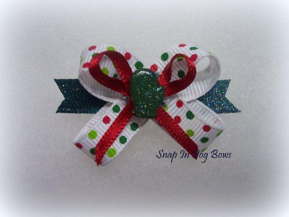 The Original SnapIn Dog Hair Bow   Christmas by SnapInDogBows, $3.75