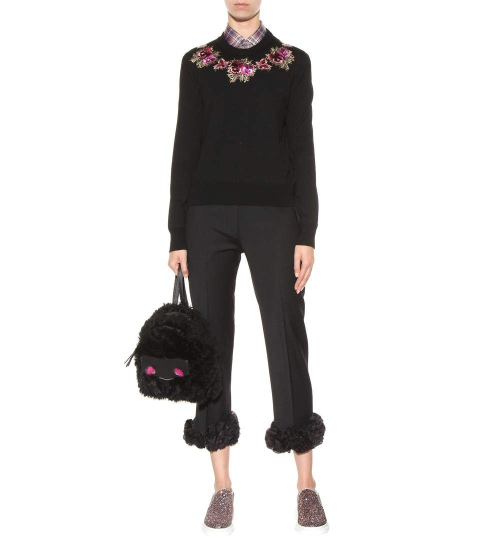 mytheresa.com - Sneaker con glitter e pelle metallizzata - Scarpe - Luxury Fashion for Women / Designer clothing, shoes, bags