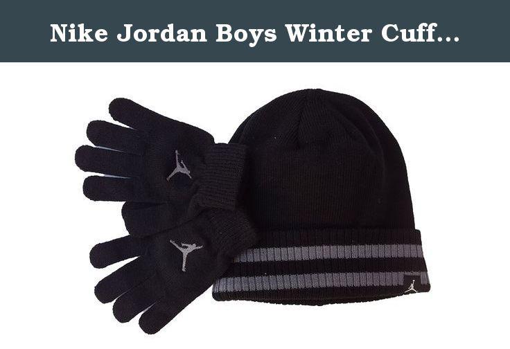166cb5246c9 Nike Jordan Boys Winter Cuffed Beanie   Gloves Set (8-20