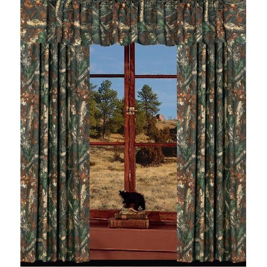 Camo Drapes Window Valance Camo Curtains Curtains