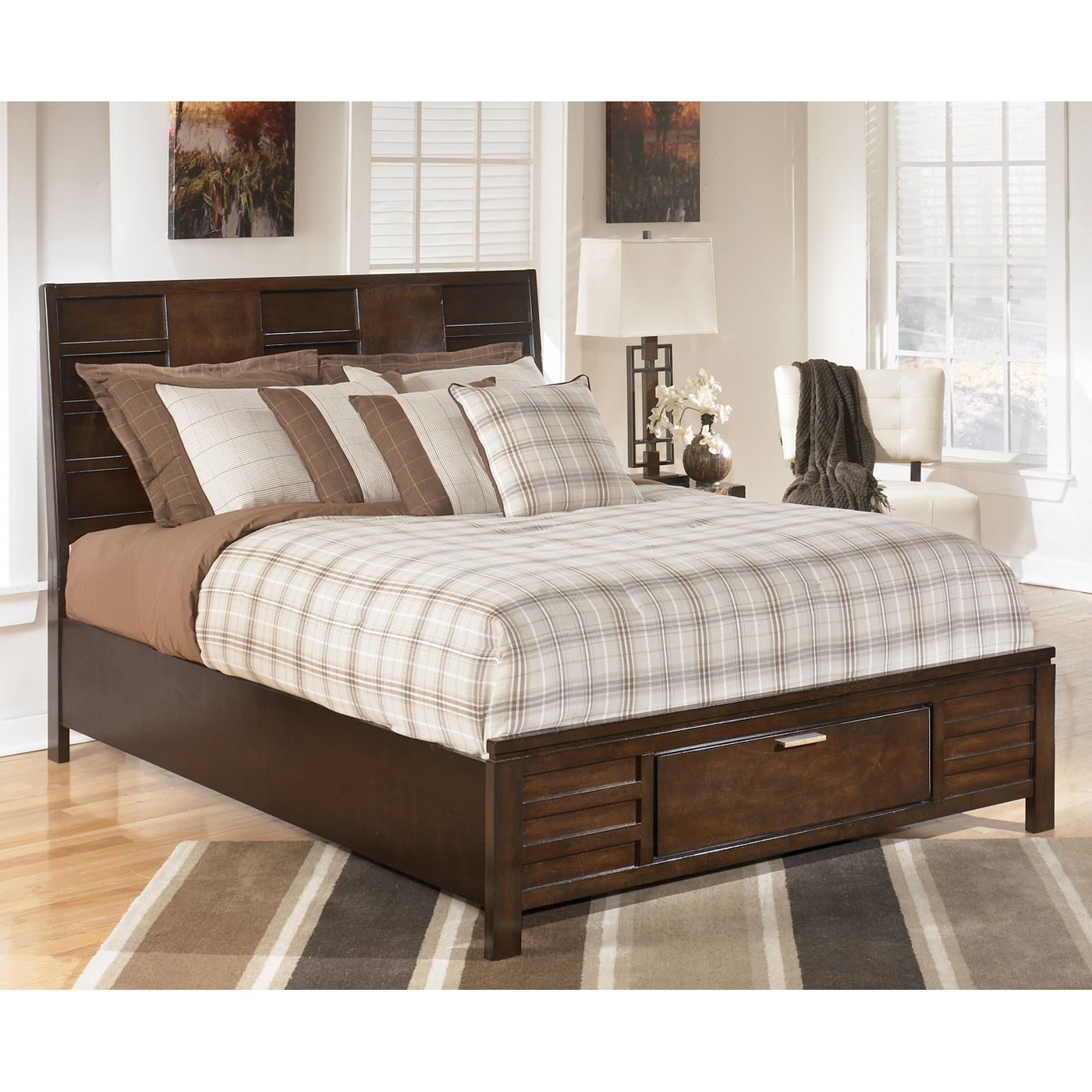 Signature Design by Ashley Nowata Panel Bed at ATG Stores