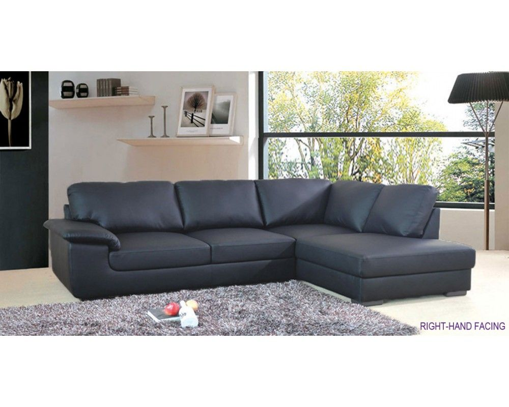 Collingwood black leather corner sofa 500 house ideas for Black corner sofa