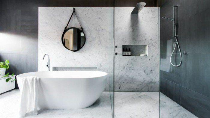 muster badezimmer klassische weisse farbe | Einmaliges Badezimmer ...